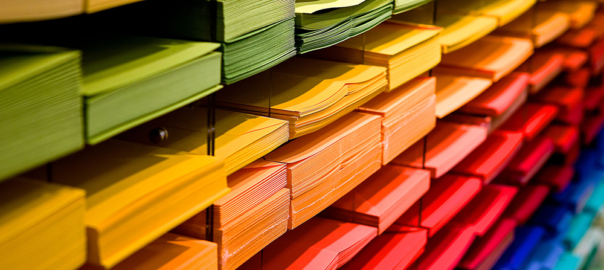 coloured paper, filing