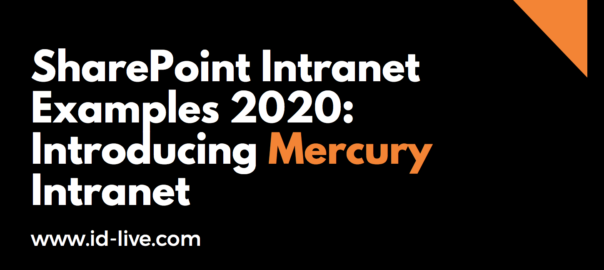 SharePoint intranet examples 2020: introducing mercury intranet